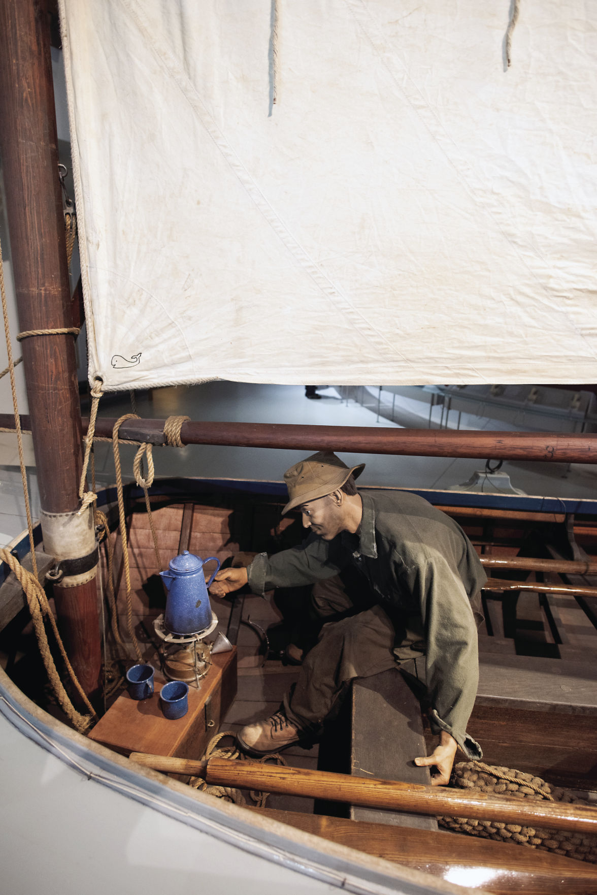 Wooden sailboat at Columbia River Maritime Museum