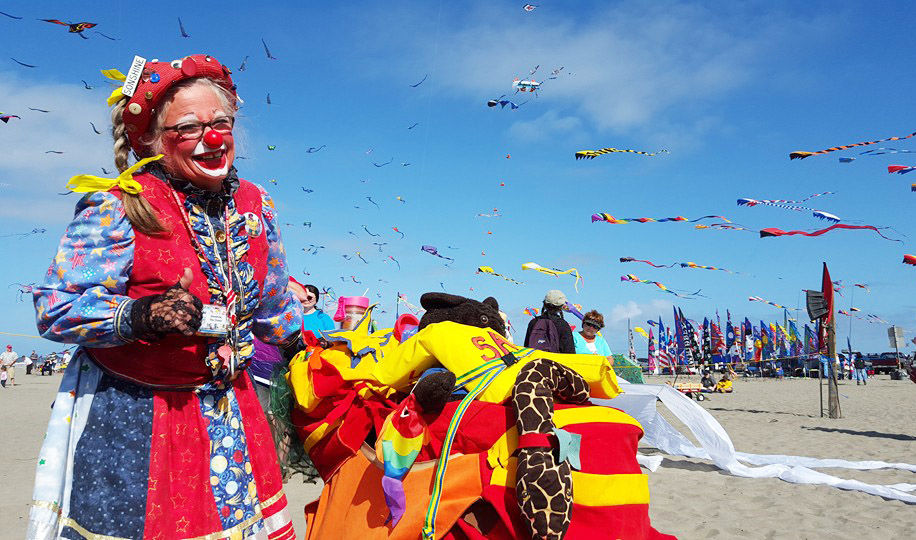 Clown at kite festival