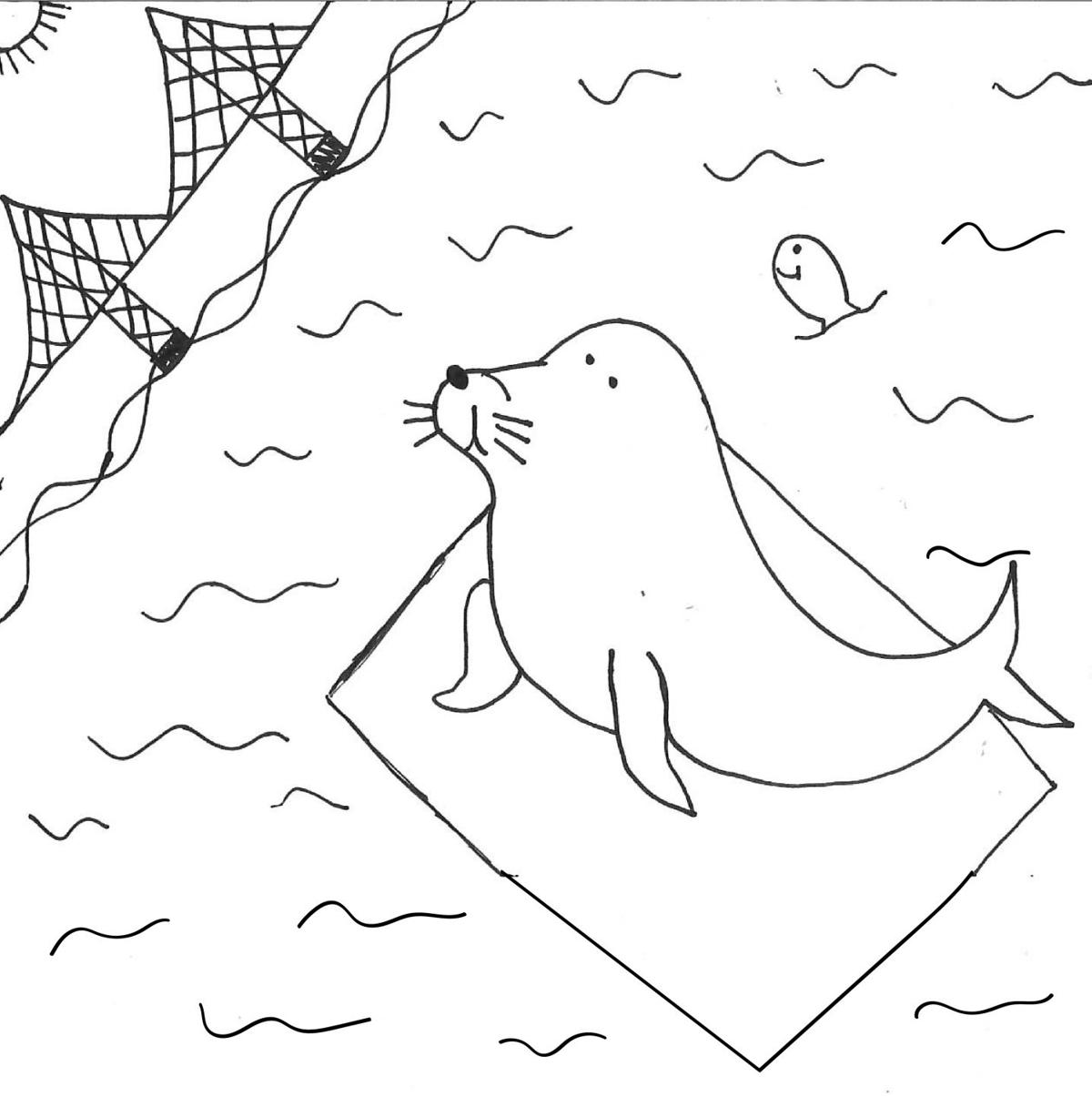 Leopard Seal Coloring Page | Leopard seal, Mammals, Coloring pages | 1205x1200