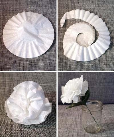 Crafts for a rainy day: paper flowers