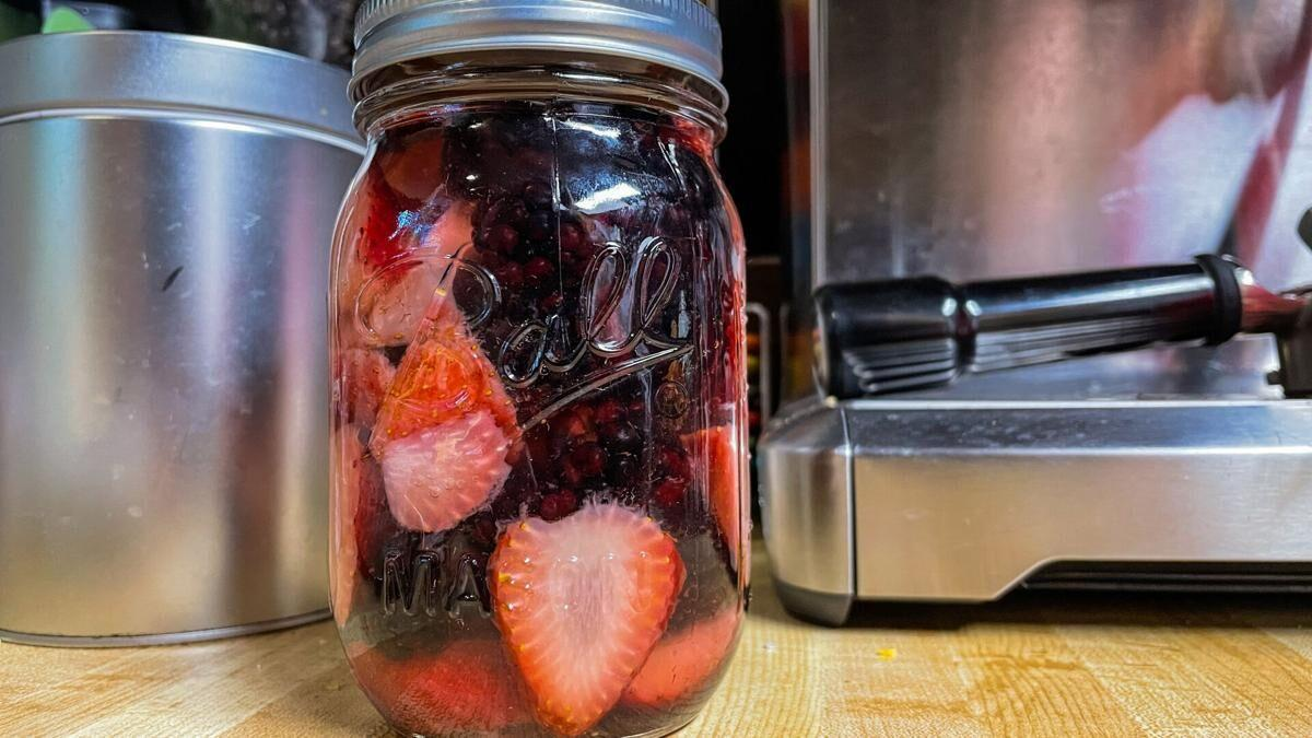 Berry-infused rum