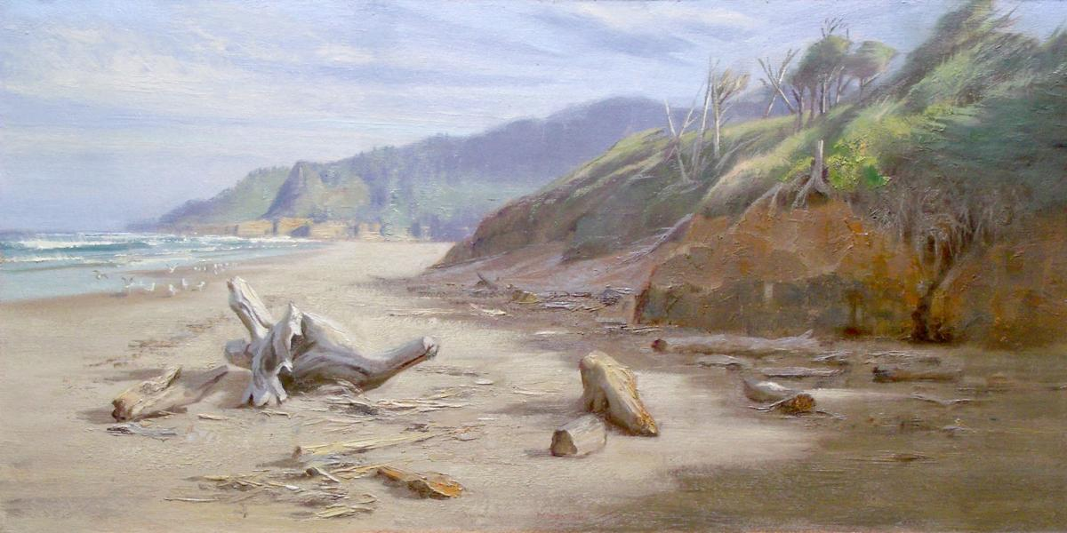 190802_oct_First weekend Toward Cape Foulweather. 15x30. Oil..jpg