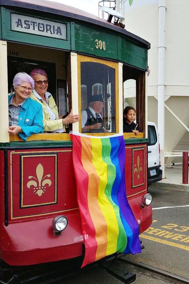 Riding Astoria Trolley