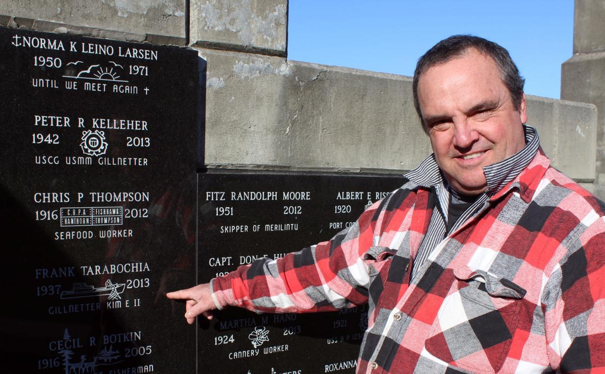 FisherPoet Tom Hilton at Maritime Memorial