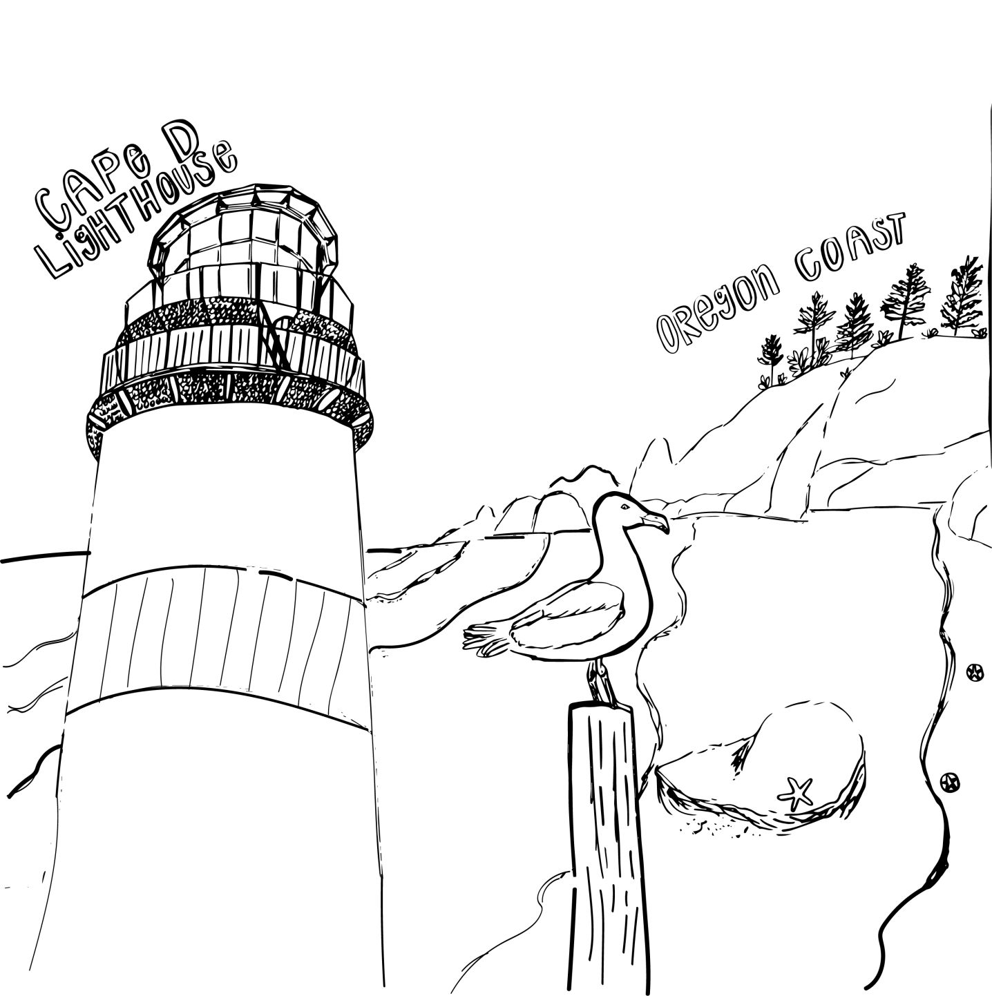 - Lockdown Lowdown Contest: Coloring Pages Coastal Life