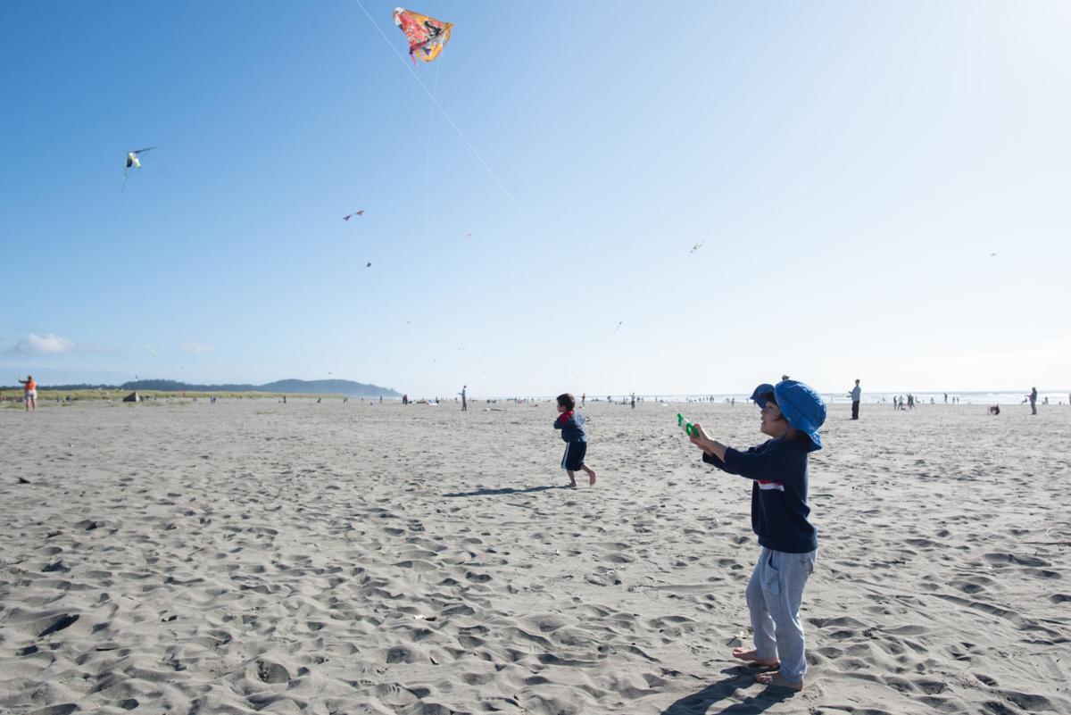 Kite and child