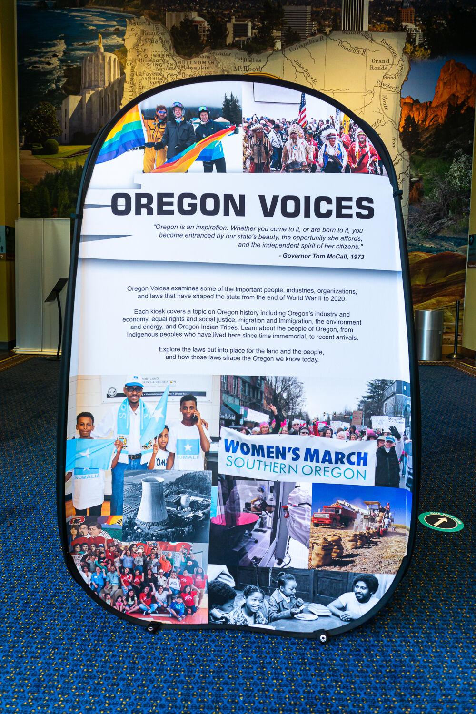 Oregon Voices display