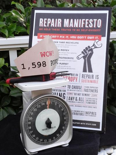 Weigh your mends at Repair Cafe
