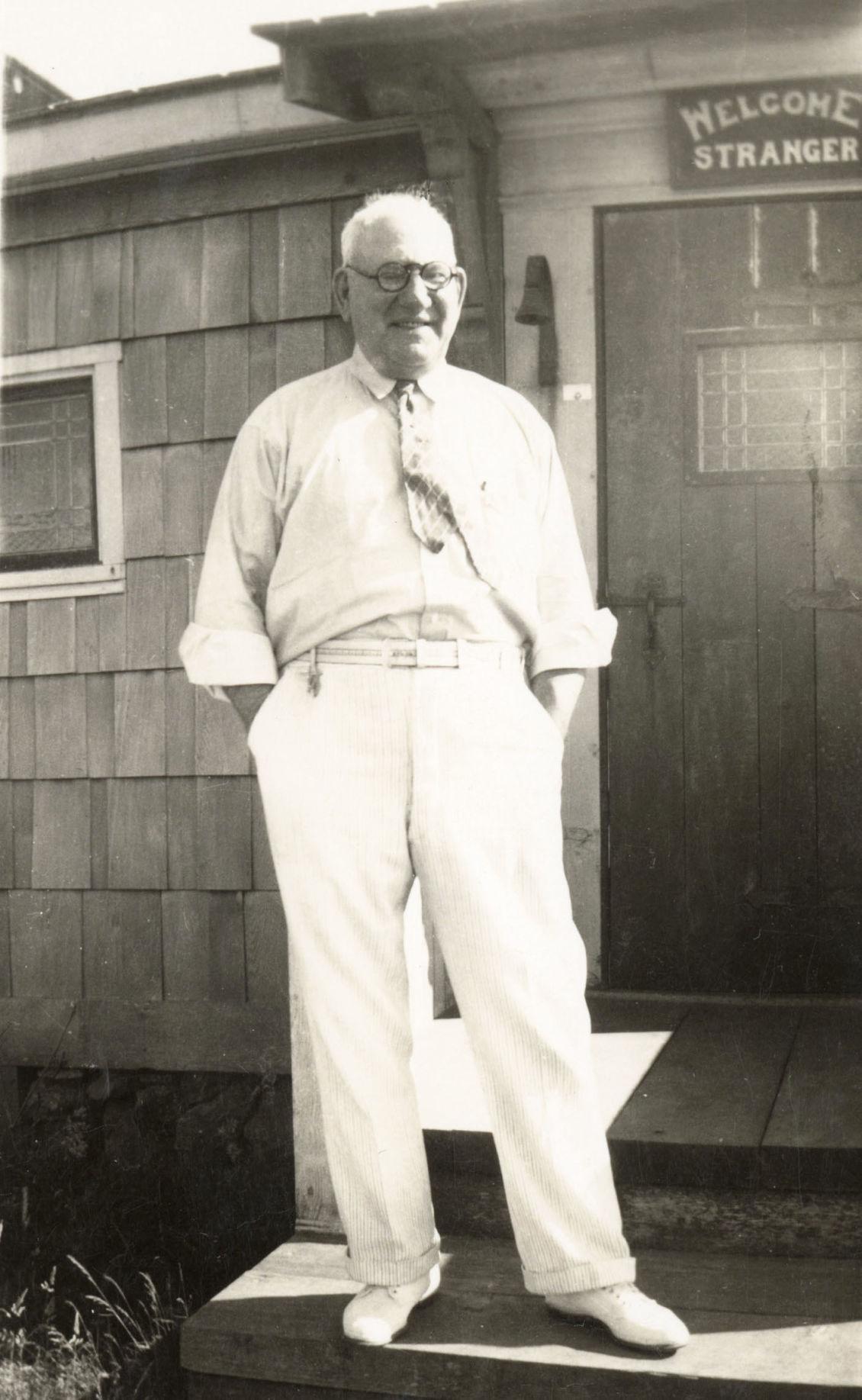 Joe Knowles at home