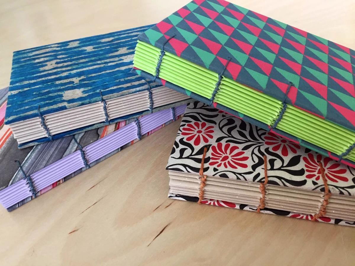 Coptic stich bookbinding