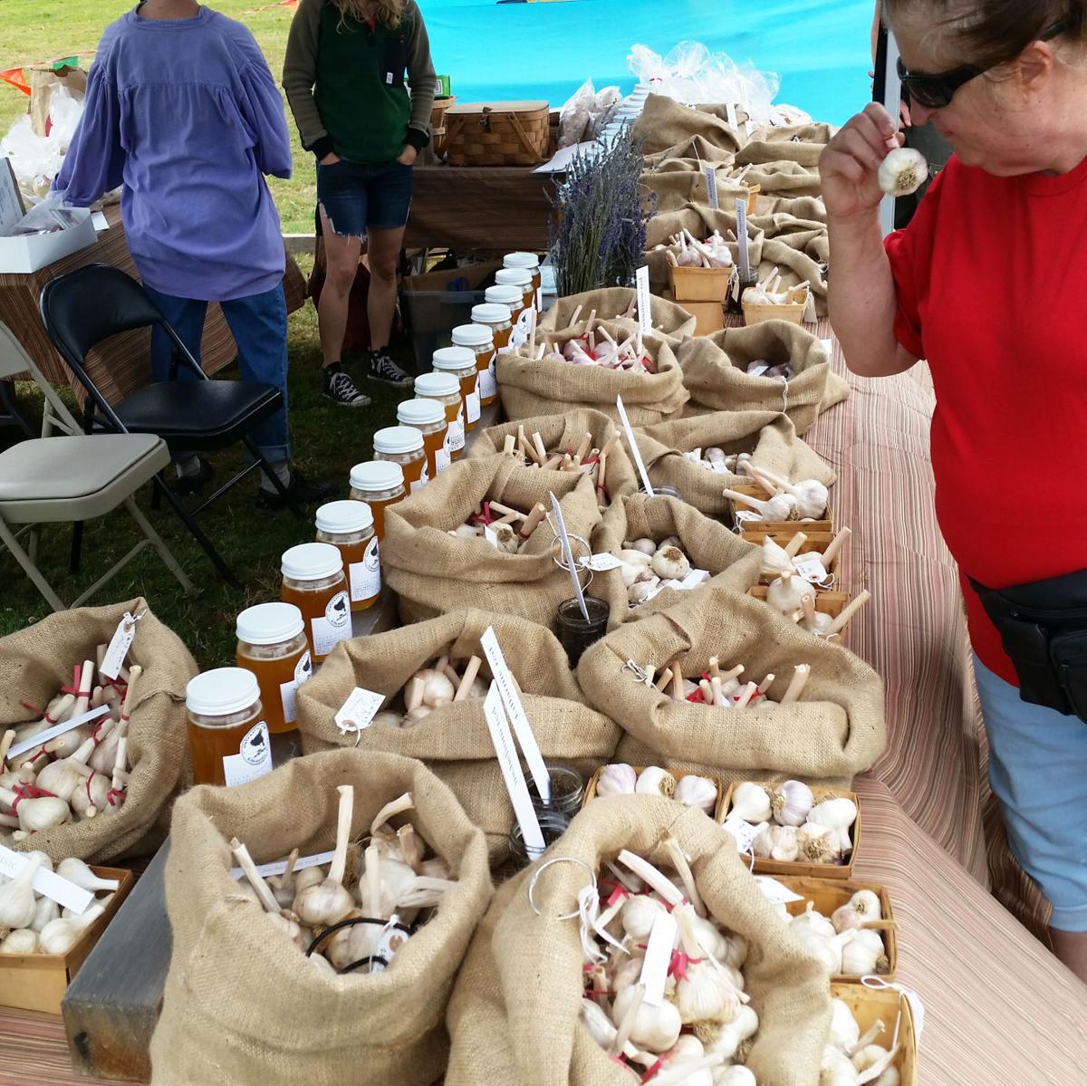 Garlic Festival flavors farmers market