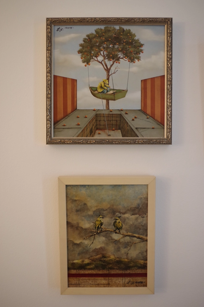 Two paintings by Tyson Grumm