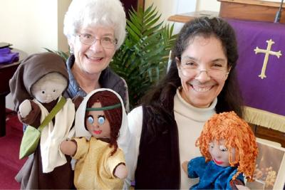 Puppets take over the service at Pioneer Presbyterian