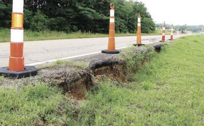 South Main road damage