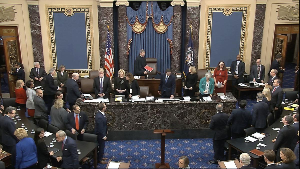 Not Guilty: Split Senate acquits Trump of impeachment ...