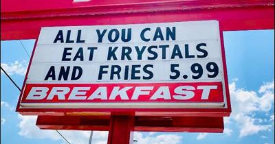 Krysta's all-you-can-eat sign