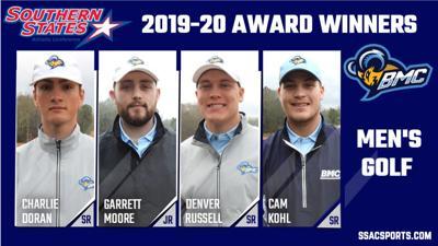 BMC Men's Golf Award Winners