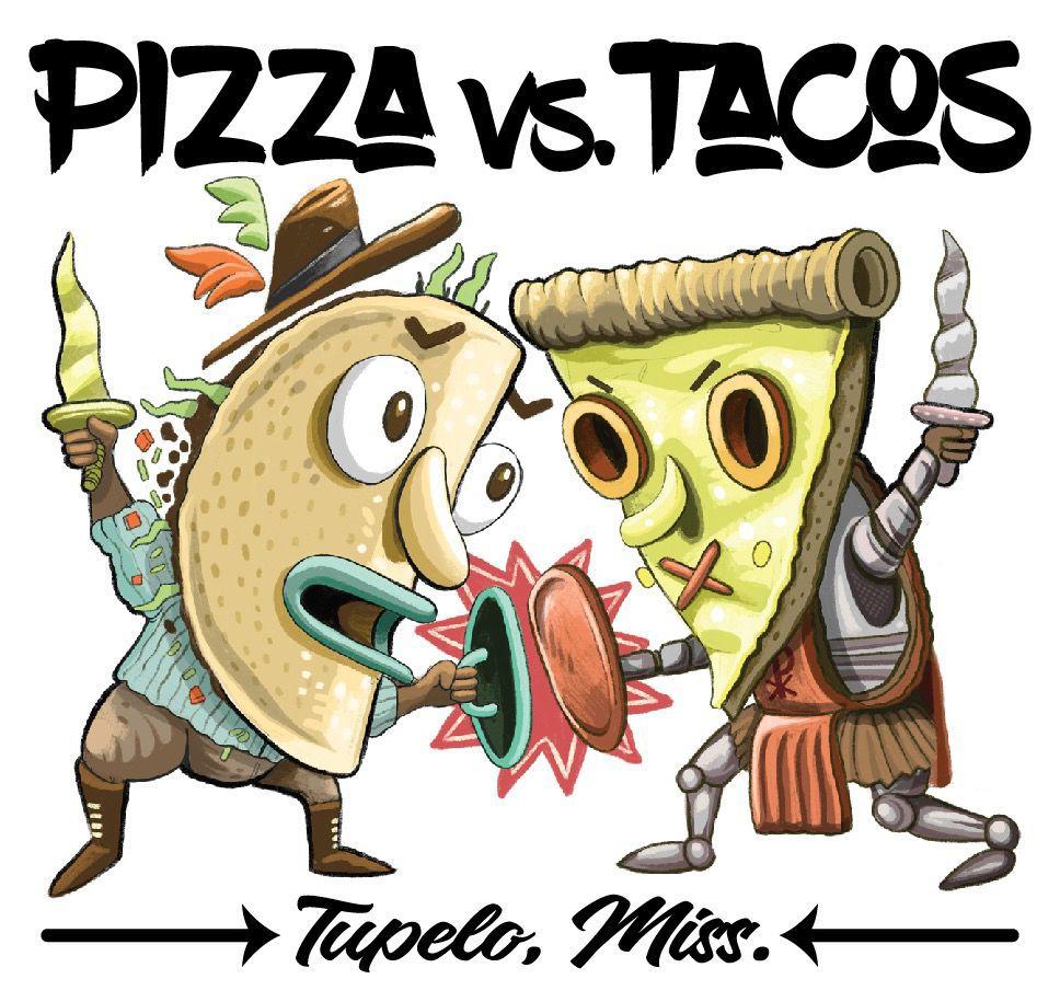 Pizza vs. Tacos logo