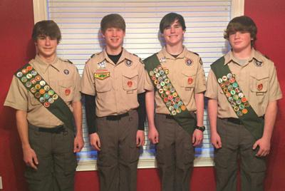 Four local Scouts earn Eagle