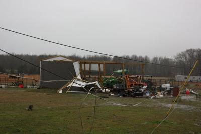 Tractor shed near Algoma destroyed