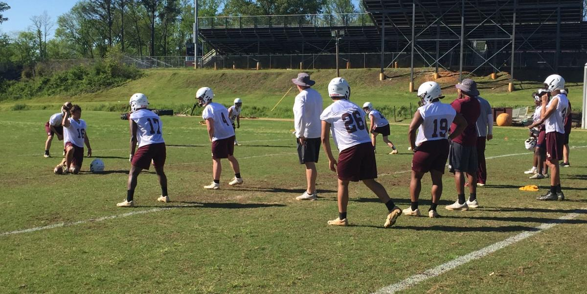 Coach Cody Stubblefield and offense