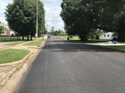Joyner Avenue pre-bike lane striping