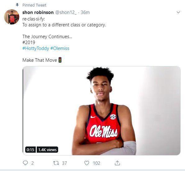 Rebels add frontcourt talent as Robinson reclassifies