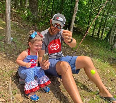 Brandon Lester and Daughter