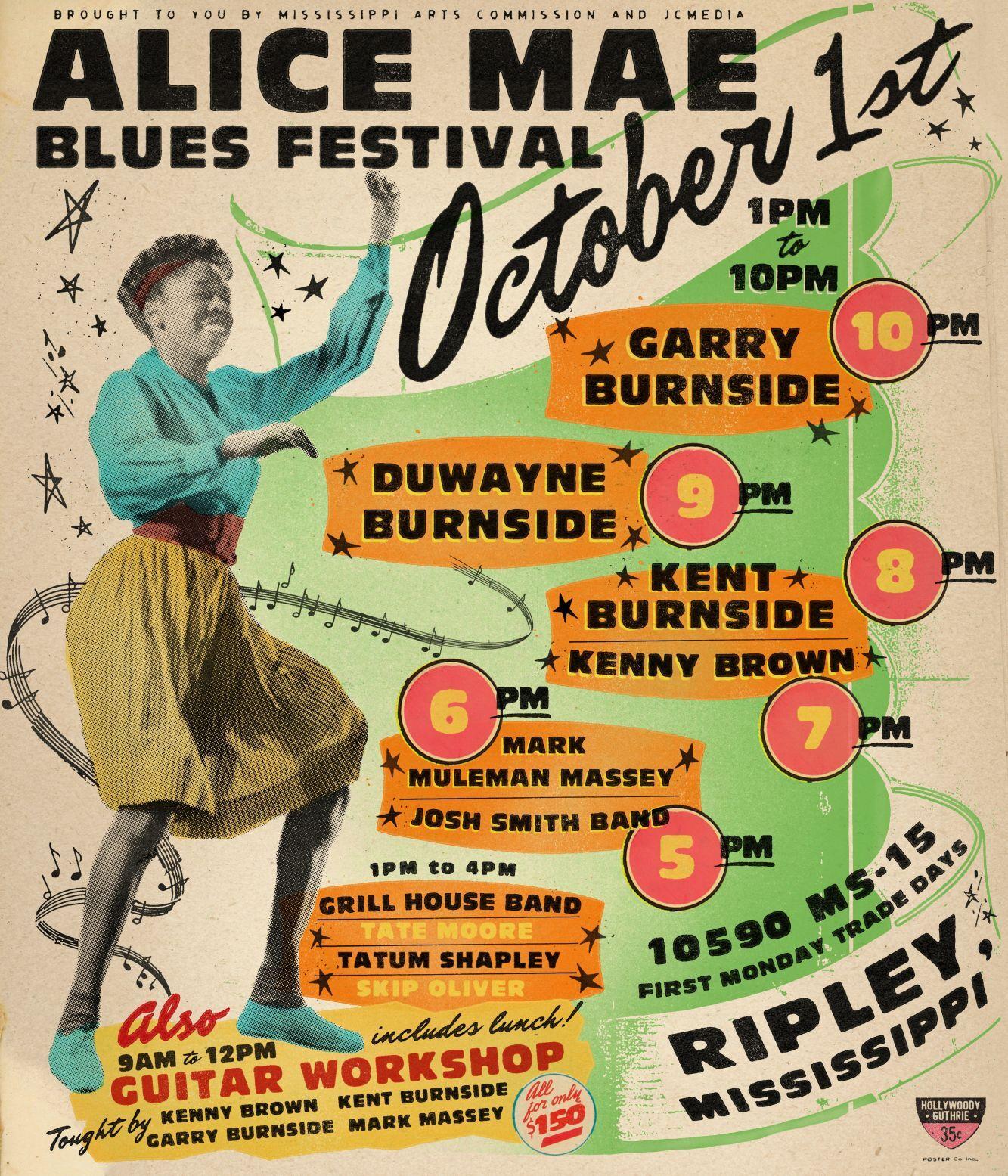 Alice Mae Festival poster