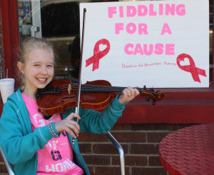 Wilkerson fiddles to raise funds for cancer patient