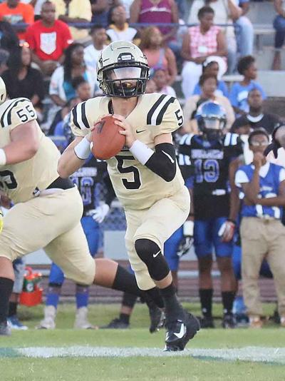 Amory quarterback Hunter Jones