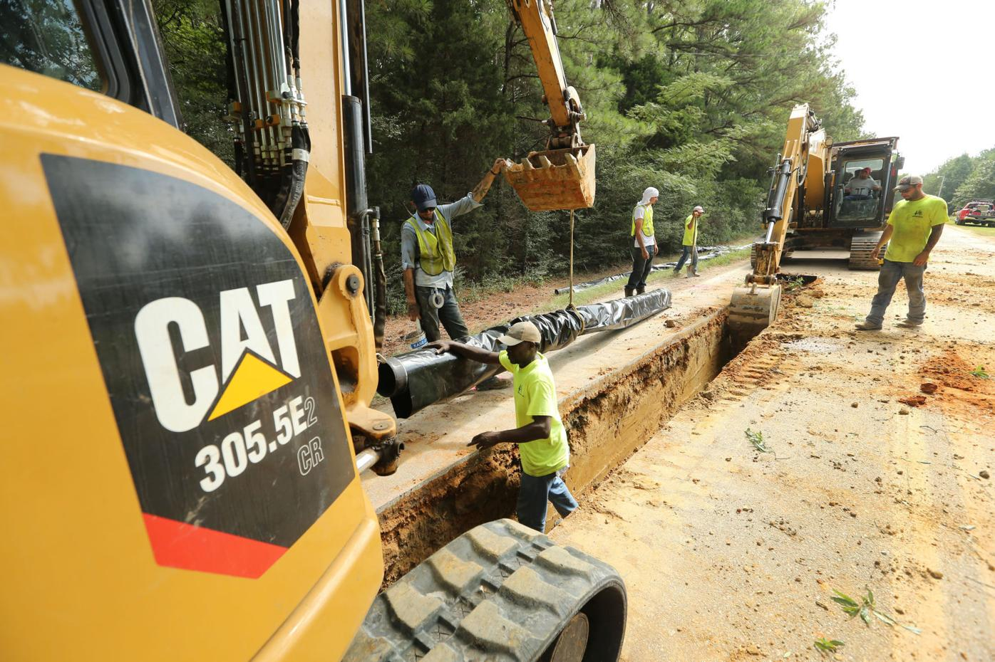 News photo: Installing annexation infrastructure   Local ...