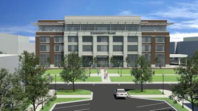 Community Bank Headquarters Rendering