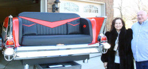 Car enthusiasts try hand at converting \'57 Chevy into sofa | Living ...