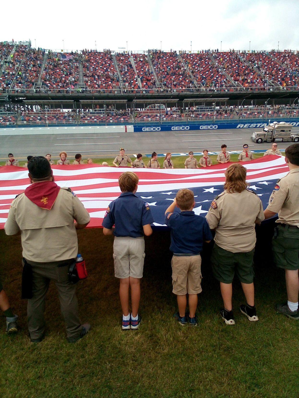 Boy Scouts visit Talladega