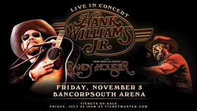 Hank Williams BCS arena announcement