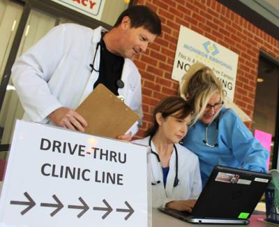 Monroe County drive-thru testig