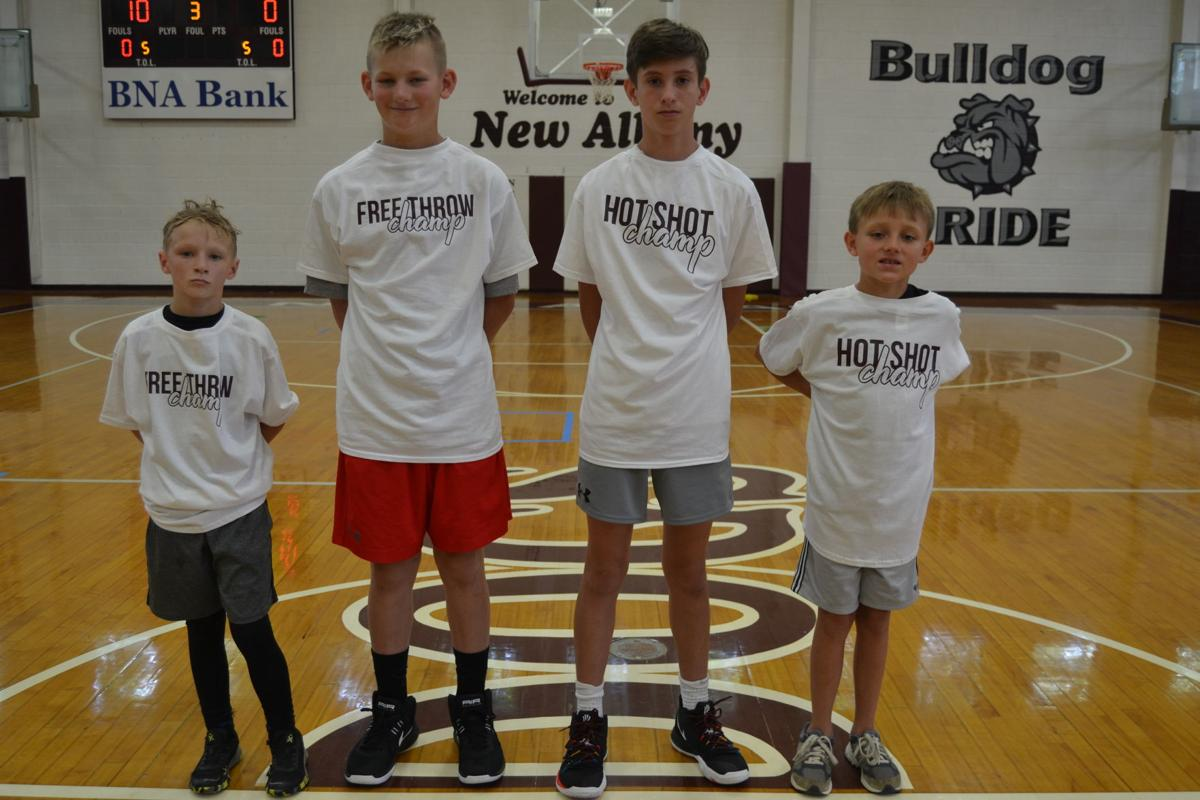 New Albany Basketball Camp winners
