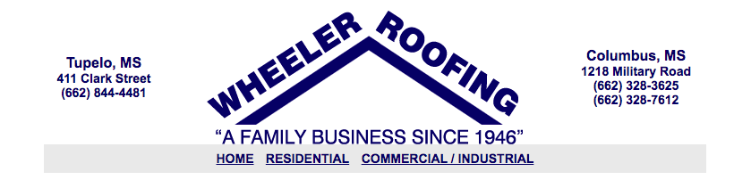Wheeler Roofing header