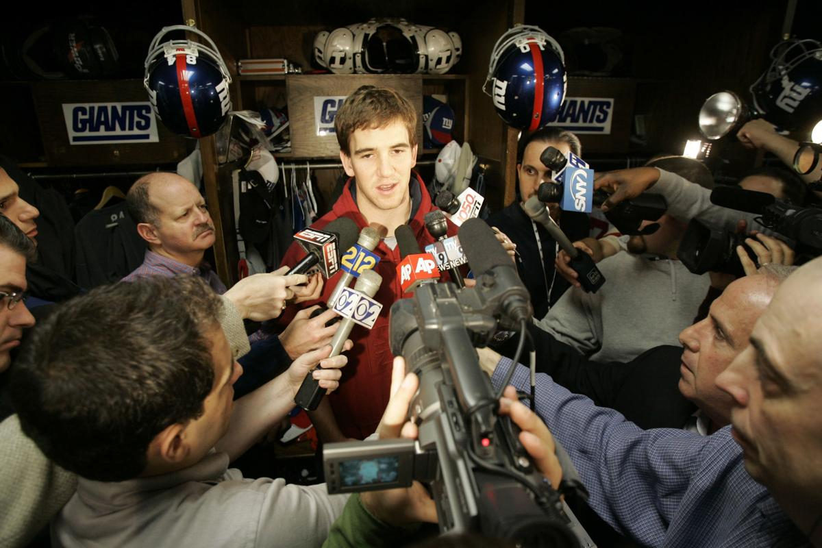 Eli and reporters