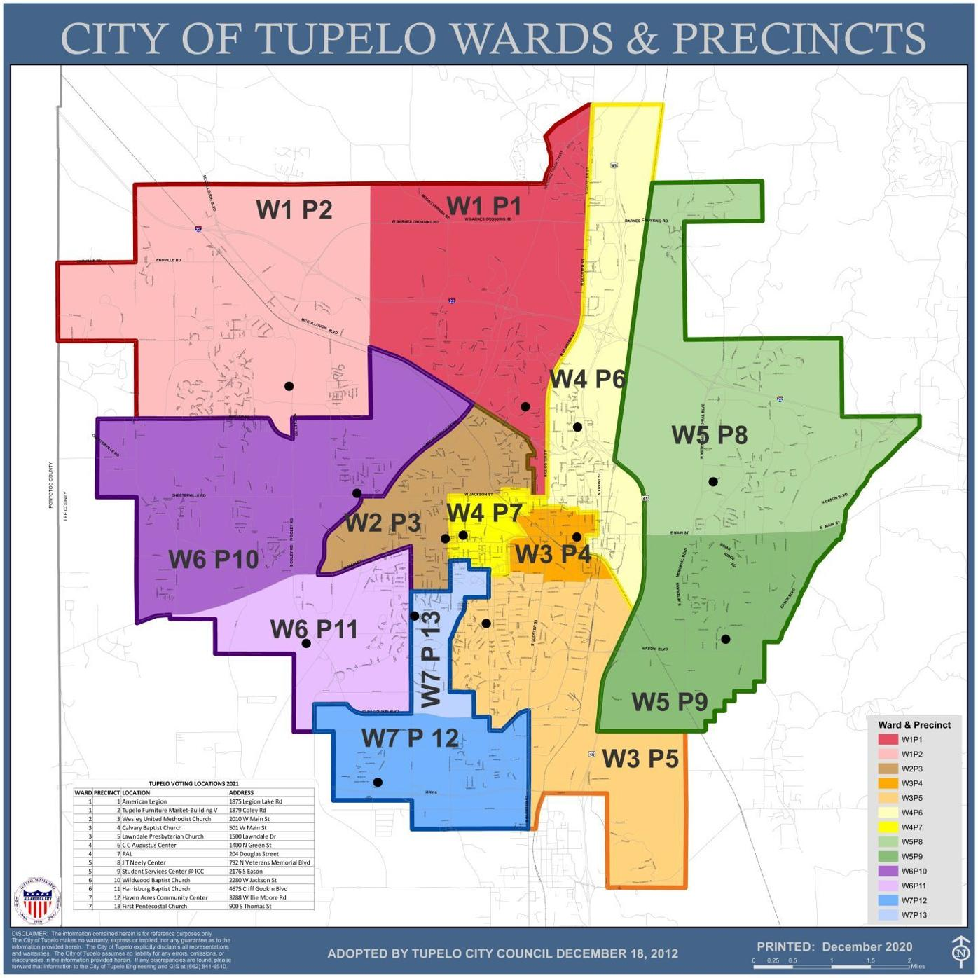 Tupelo precinct map
