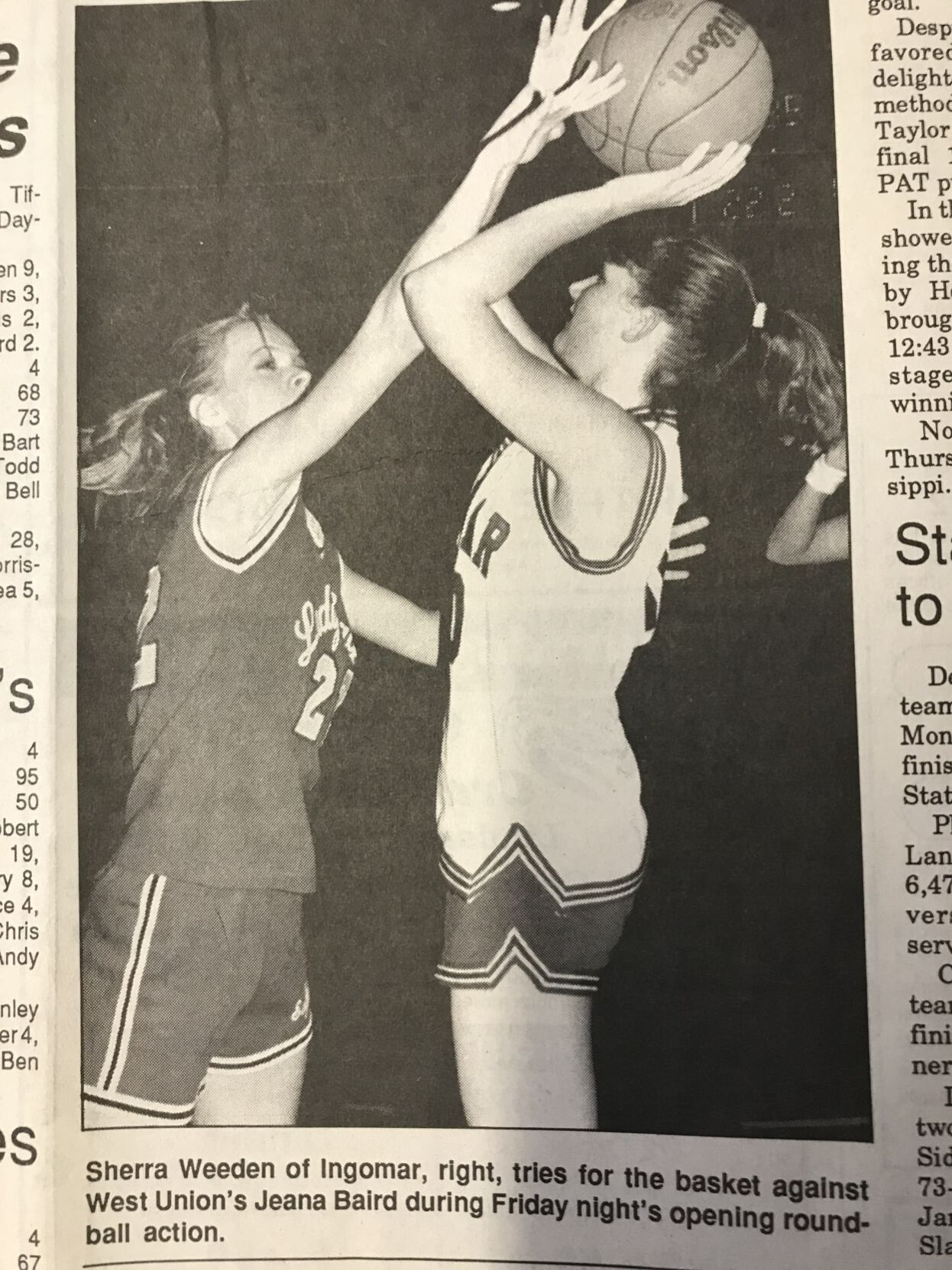 Ingomar and West Union basketball