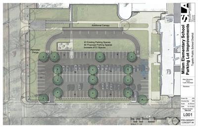 Milam Parking Lot Expansion rendering
