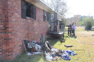 Fire damages Cayson house