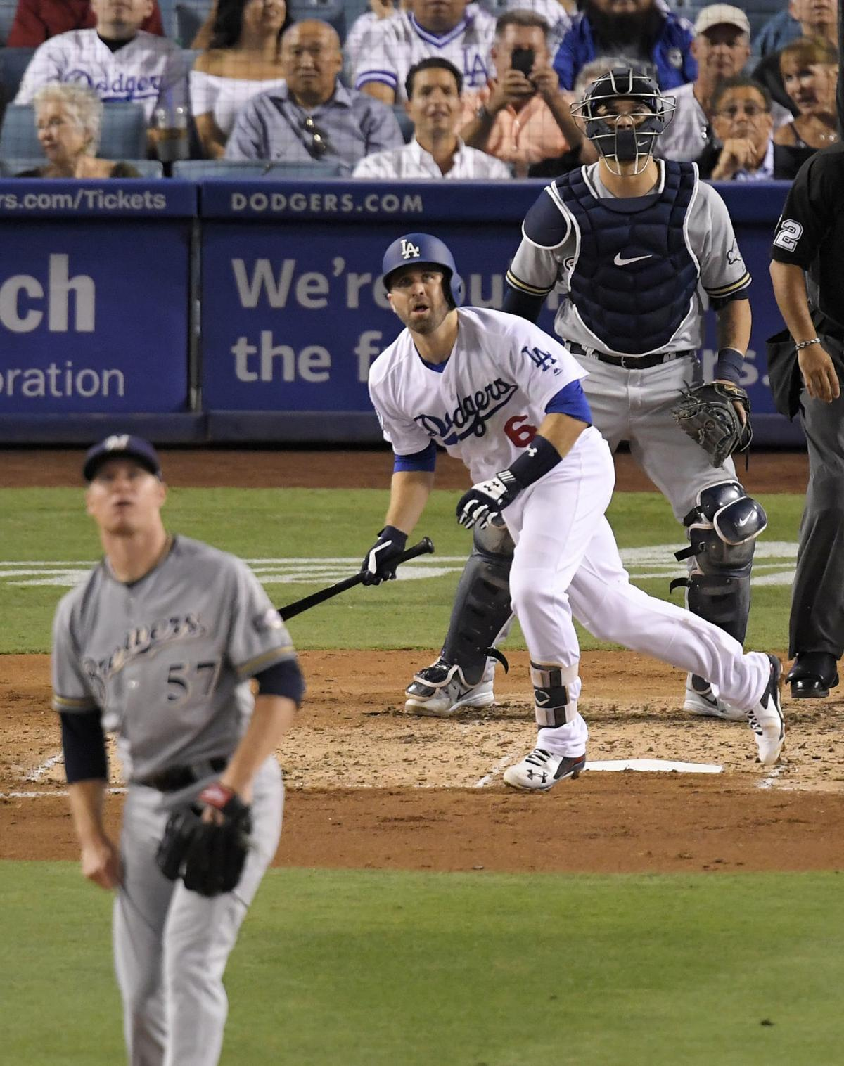online store 0247a a4c24 Dozier homers in first game for Dodgers | Sports | djournal.com