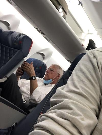 U.S. Sen. Roger Wicker aboard Delta flight