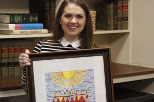 Making history: Flora excited about her Decker art design