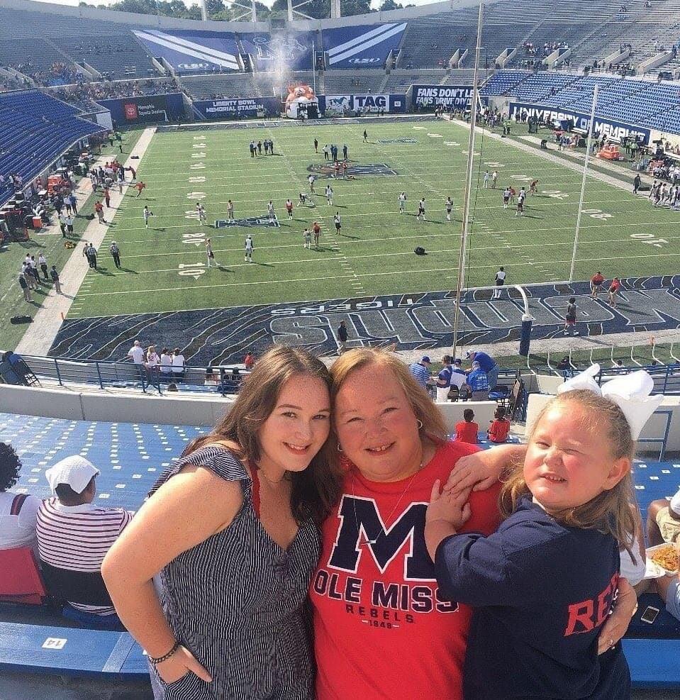 Johnson girls at Ole Miss football
