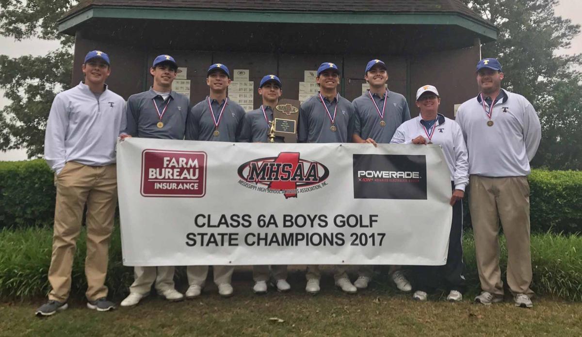Class 6A champion Tupelo golf team