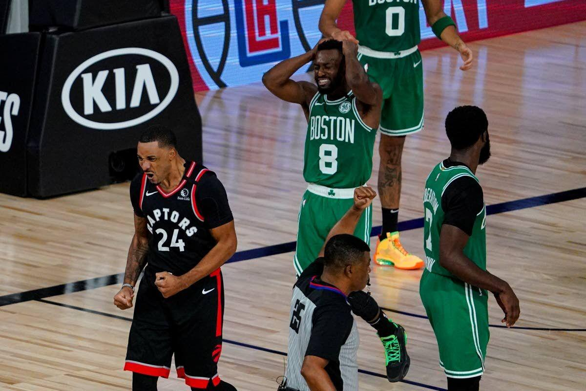 Raptors beat Celtics in double overtime to force Game 7